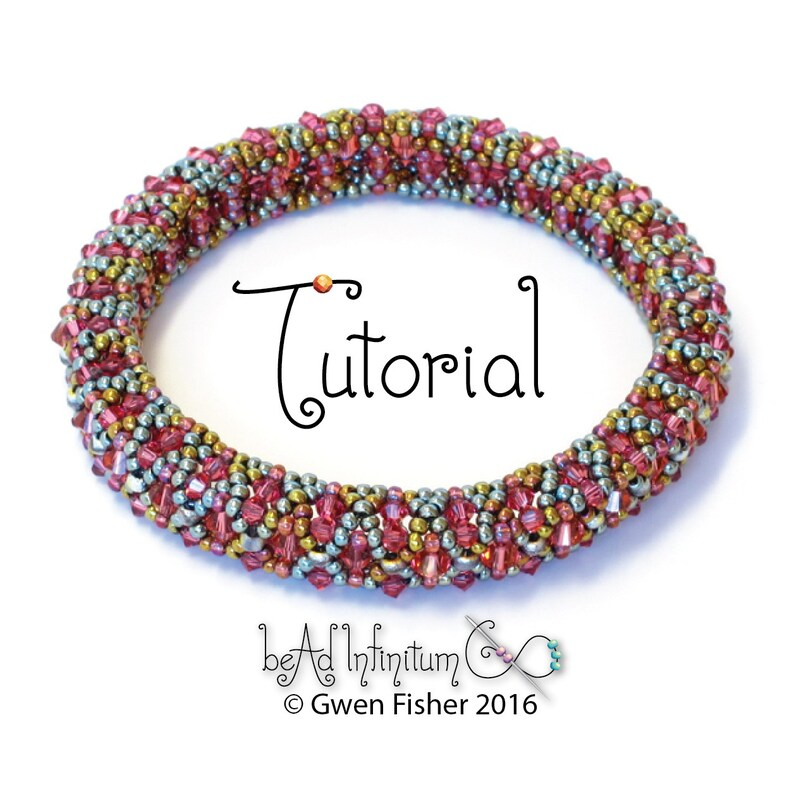 a8d8b06a202 Beading TUTORIAL Bicone Bangle Bracelet Pattern Made with Seed image 0 ...