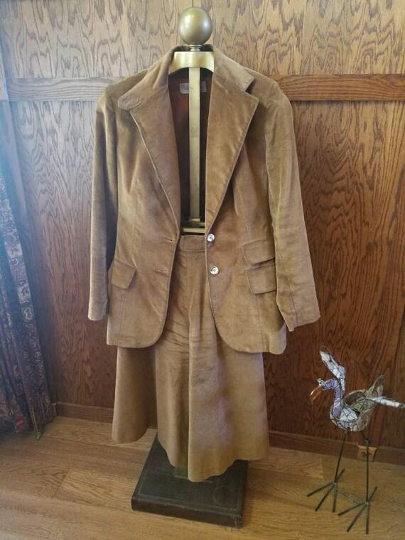 Vintage Evan-Picone Corduroy Suit with Gauchos - B