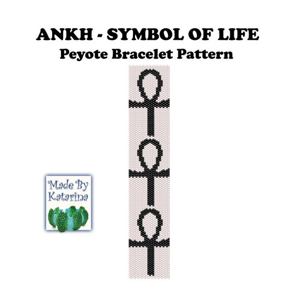 Peyote Pattern Ankh Symbol Of Life Instant Download Pdf Etsy