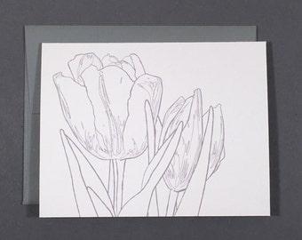 Tulip Coloring Card
