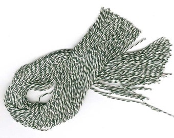 """300 PRECUT 12"""" Bakery Twine STRINGS for Hang Tags, Ornaments Etc. Choice of color."""