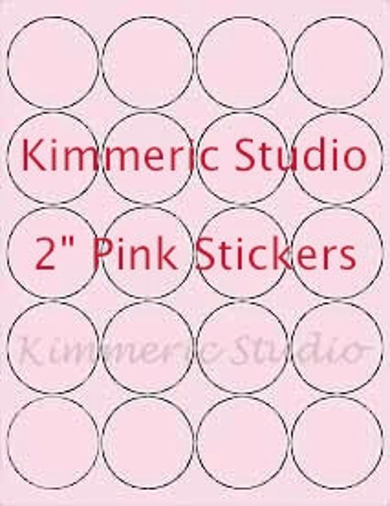 """6 SHEETS 2-7//8 ROUND CIRCLE BLANK WHITE STICKERS ~ 8-1//2/""""x11 Label Sheets,Crafts"""
