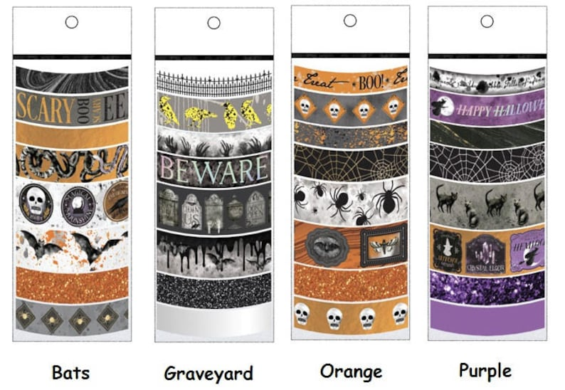 Martha Stewart Halloween Washi Tape Assortments  Craft Tape  image 0