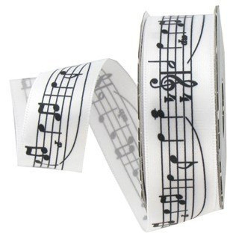 Mini Spool Ribbon Music Notes 6ft
