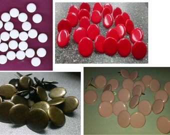 Scrapbooking Jumbo Round Brads BULK 25pc - Choose Color | Paper Fasteners | Invitations
