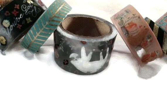 8 Spools Christmas Greenery /& Phrases Washi Tape Assortment Set