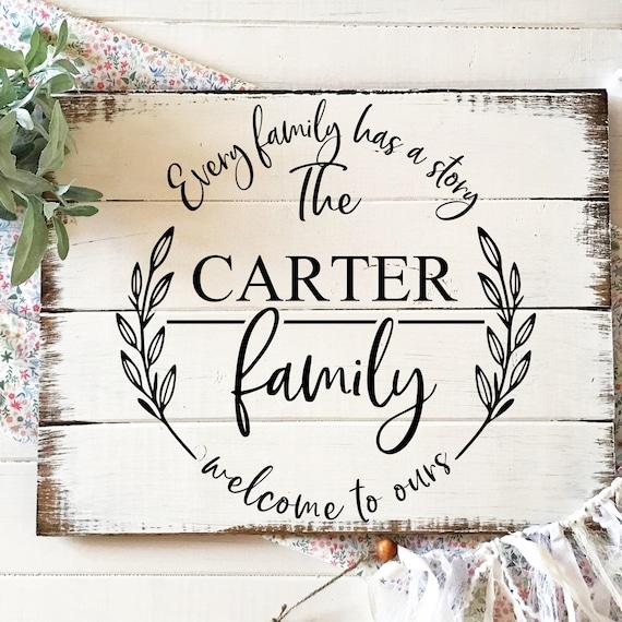 Family Monogram Wood Sign