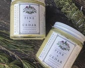 Pine + Cedar Body Butter moisturizing herbal winter skin care Mother Hylde's Herbal 4oz jar