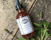 Peach Wineberry Tulsi Cordial summer elixir holy basil wild berry tincture fruit herbal