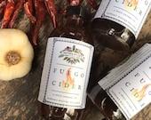 Fuego Cider Mother Hylde's Herbal fire cider winter wellness spicy oxymel horseradish vinegar elderberry syrup 8oz bottle