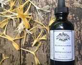 Elderflower Honeysuckle Elixir Mother Hylde's Herbal elderberry flower herbs tea herbal cocktail tincture elixir 2oz
