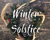 Winter Solstice Gathering Box Christmas holidays pine cedar evergreen yule pagan celtic wheel of the year ritual Mother Hylde's Herbal