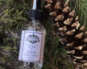 Hydrosols -  Pine + Cedar Lemon Balm Lemon Verbena Rosemary plant waters essential oil room spray hydrosols 2oz