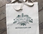 Mother Hylde's Herbal canvas cotton reusable shopping bag farmer's market tote grocery library herbs