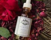 Damask Rose Glycerite alcohol free tincture herbal medicine heart love 2oz