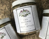 Ritual Bath Salt Soak 16oz- The Reverie of Frau Holle Mother Hylde's Herbal bath salts herbal essential oils summer flowers tub aromatherapy