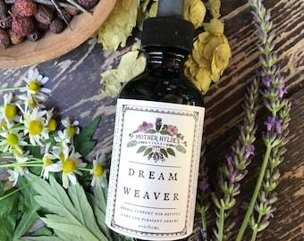 Dream Weaver herbal sleep aid tincture stress insomnia anxiety natural herbs dreams Mother Hylde's Herbal 2oz