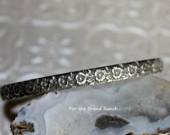 Small Sterling Silver Floral Bracelet