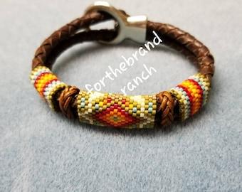 Apache Sunset Beaded Bracelet - made to order