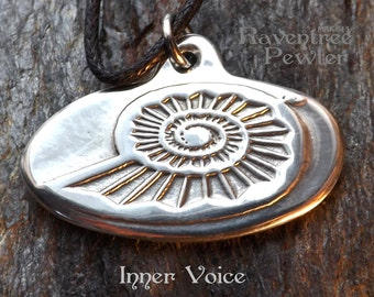 Inner Voice - Pewter Pendant - a piece to remind us to listen to our inner call and speak our truths.