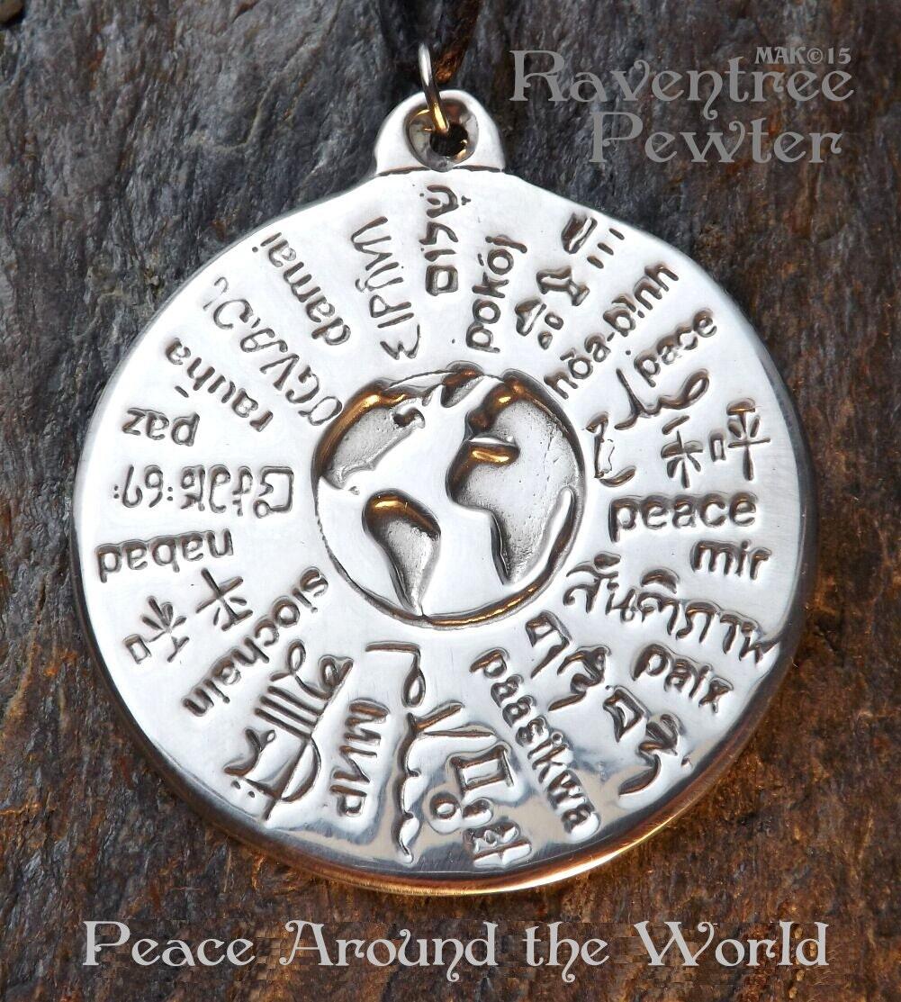 MANIFEST LOVE Pewter Amulet with Description Card PENDANT