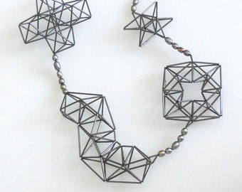 multi shapes with pearls