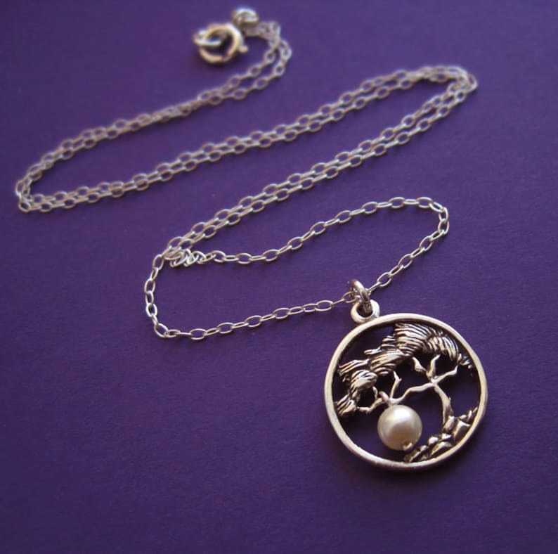Sterling Silver Family Tree Gift of Life Necklace With image 0