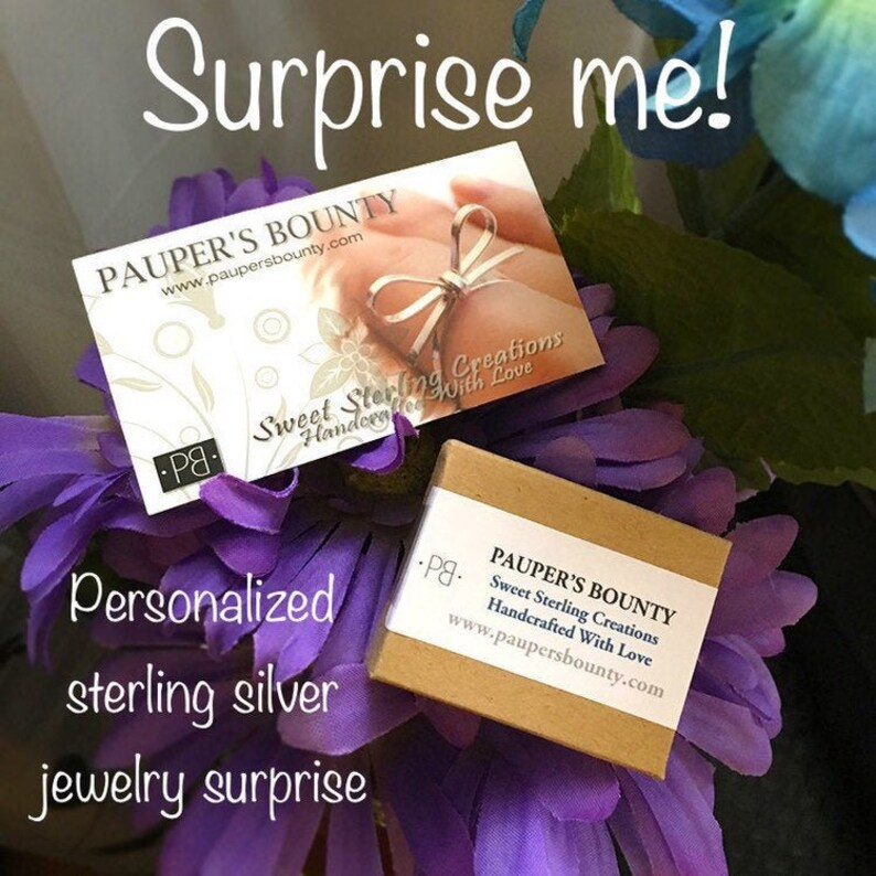 Customized Sterling Silver Jewelry Surprise Minimum Retail image 0