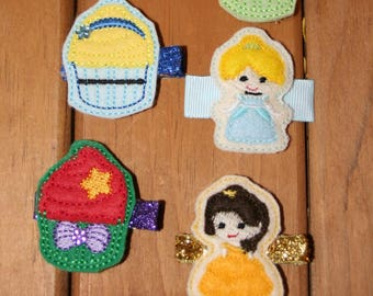 My Favorite Princess Clippie, Your Choice of a Disney Themed Hair Clip