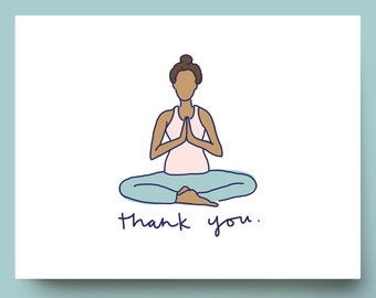 Yoga Stationery  Man in Lotus Position  Navy Blue  Personalized or Namaste  Yoga Note Card Gift  Men\u2019s Stationery  10 Note Cards