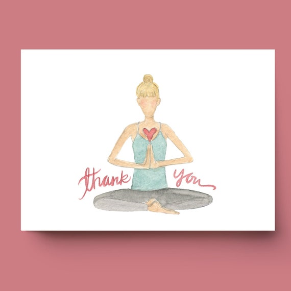 Choose Any 8 Greeting Cards   Yoga Greeting Cards  Watercolor Greeting Cards  Yoga Cards 8-Pack Create Your Own