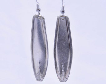 Elegant but Simple Silverware Earrings made from Vintage Silver Plated Spoons