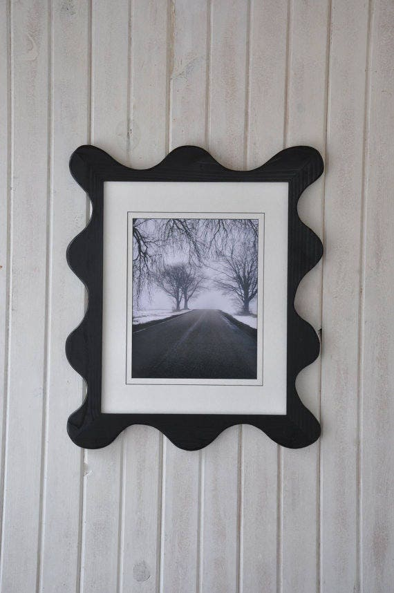 11x14 Funky Picture Frame With Acrylic Glass Backing And Etsy