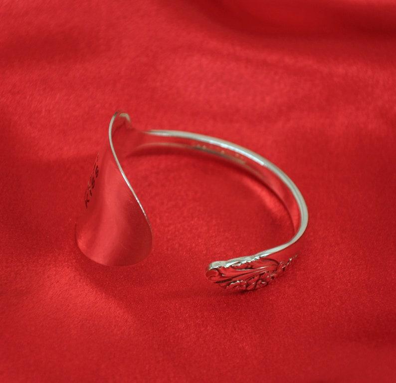 Personalized Spoon Cuff Bracelet Silverware Jewelry