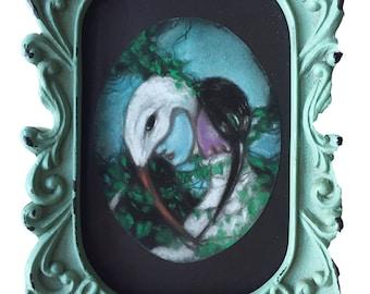 Entwined- Original pastel by Celene Petrulak