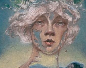 The beauty of decay - original pastel by Celene Petrulak