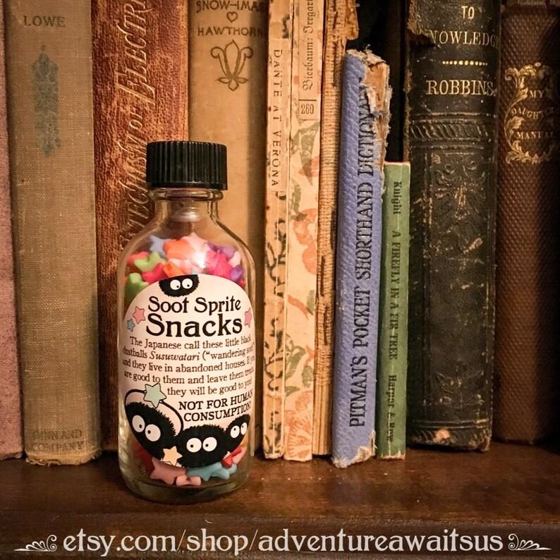 a102000652b3 Soot Sprite Snacks - glass bottle star treats japanese japan spirits  susuwatari Miyazaki Spirited Away Totoro Studio Ghibli fantasy cosplay