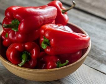 Heirloom California Bell Pepper Vegetable Seed Garden Organic Non Gmo California Wonder Container Friendly