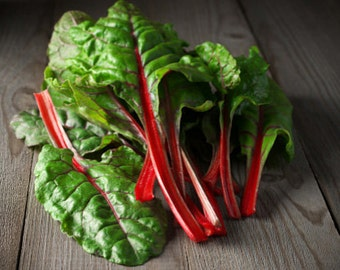 Heirloom Swiss Chard Ruby Red Organic Vegetable Seed Garden Non Gmo Container Friendly
