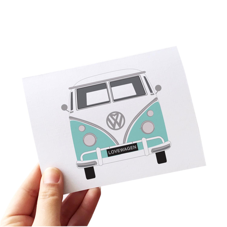 Used Volkswagen Buffalo Ny: Retro Card Volkswagen Bus Volkswagen Card Love Card Set