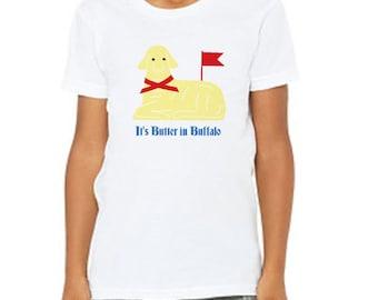buffalo ny gift // buffalo kids gift // butter lamb t-shirt // it's butter in buffalo // buffalo children clothes // buffalo youth shirt