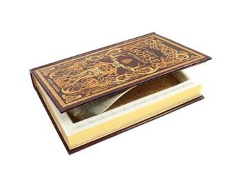 Norse Mythology Premium Large Leatherbound Hollow Book Booksafe With Magnets Snap Closed Magnet Closure Mythology Gift Idea - READY To SHIP
