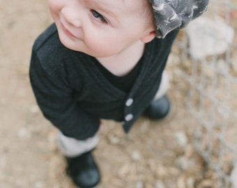 Child Organic Cotton Black Bee Beanie