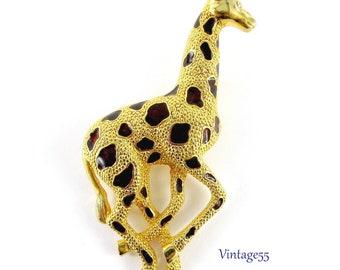 Giraffe Vintage Gold Pin Brooch D-3712
