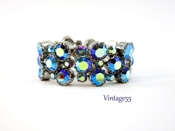 Rhinestone Bracelet Blue Schiaparelli