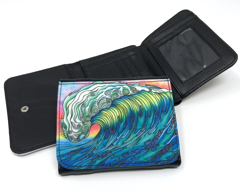 0b749da494d0 Women s Wallet Purse The Wave Wallet Surf Art Small