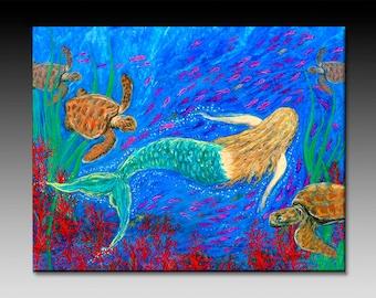 The Mermaid Dance Ceramic Tile Wall Art