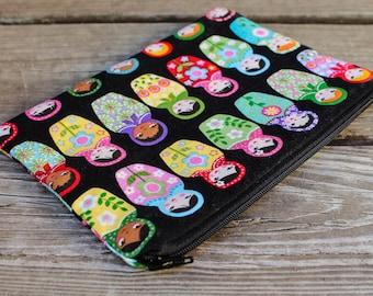 Russian Matryoshka Nesting Dolls Tarot Card Bag