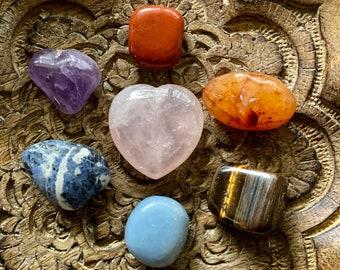 Chakra Crystals 7 Stone Set With Satin Bag