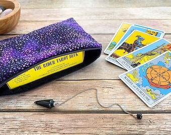 Purple Galaxy Tarot Card Bag